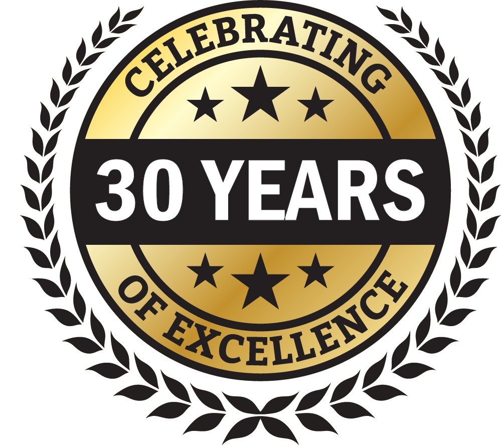 30 years of excellence badge